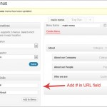 Create a WordPress Menu (Navigation) Link That's Not Clickable