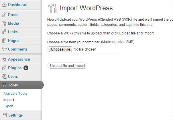import wp