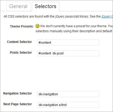 wp selectors