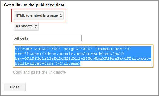 html embed