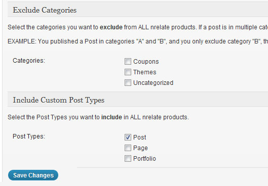 exclude categories