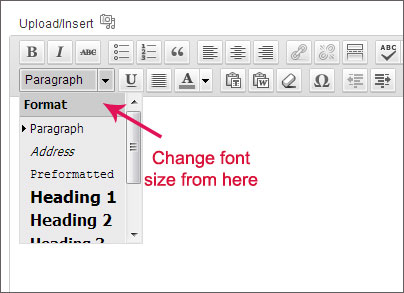 how to change font size and color in beginwp