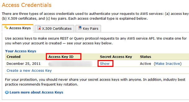 Amazon S3 details