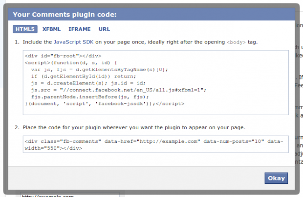 FB Comment box code