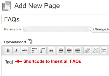 Add FAQ Page