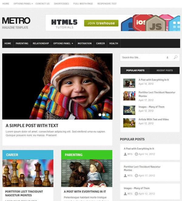 Metro magazine theme