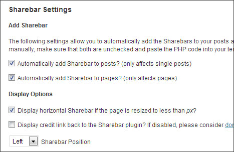 sharebar plugin