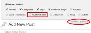 Enable Custom Fields