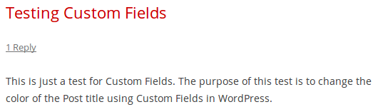 Title After Adding Custom Field