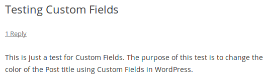 Title before Adding Custom Field