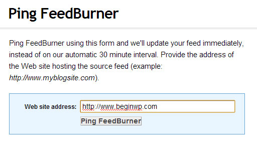 ping-feedburner