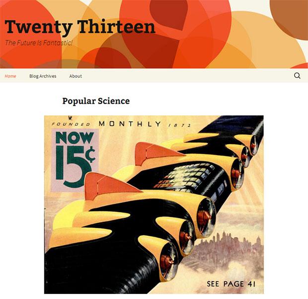 twenty thirteen theme