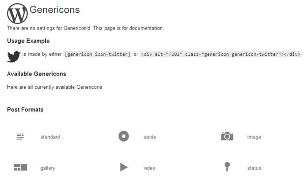 genericons-wordpress