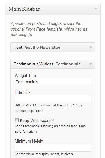 Testimonial widget