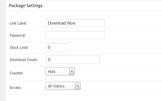 package settings download