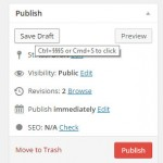 save ctrl + s in wordpress