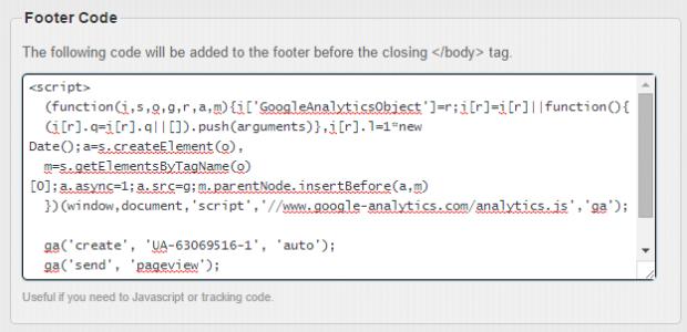 footer code
