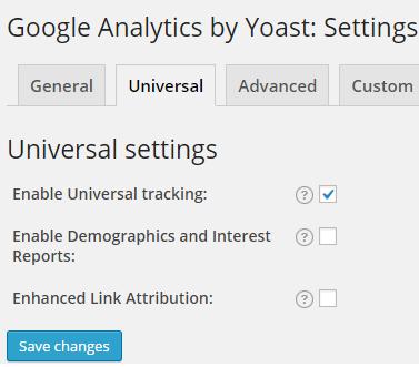 universal settings