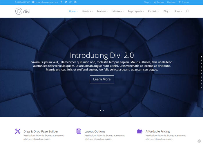 divi2 theme