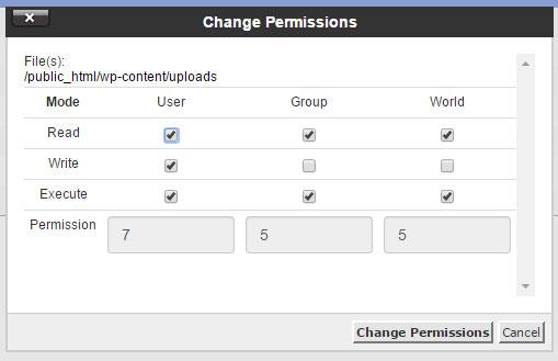 wordpress uploads folder