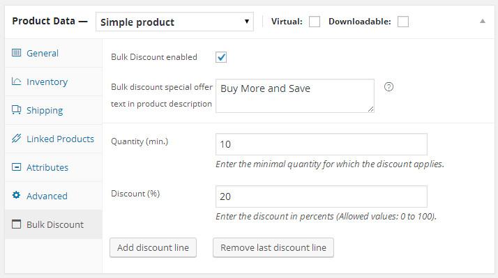 WooCommerce Bulk Discounts