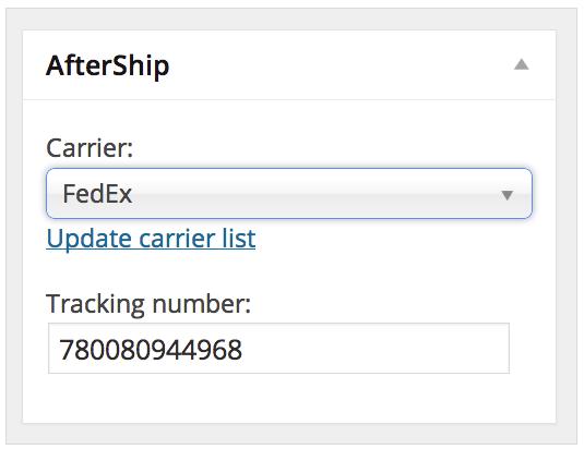 WooCommerce Tracking Numbers