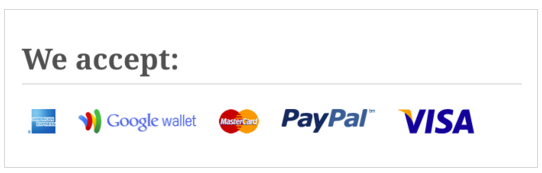 WooCommerce We Accept Payment Methods Banner