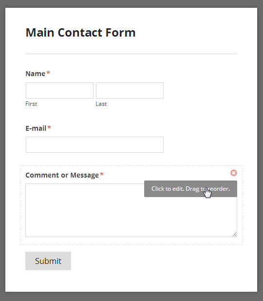 Simple Contact Form Template